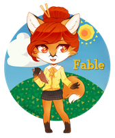 Fable || Animal Crossing OC by kittycat-fiend