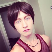 Eren Jaeger Wig Test by twinfools