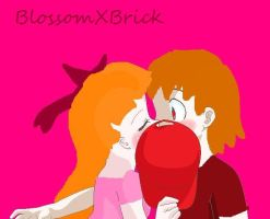 Blossom and Brick suprise kiss by vampiresquidy13