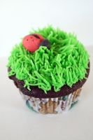 Lady Bug Cupcake by beelovessnowmen