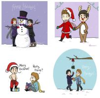 Klaine - Christmas drawings by Geminico