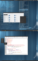 Awesome WM + archlinux by zero-kandros