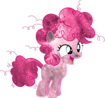 Galaxy Filly Pinkie Pie Vector by Minkxs