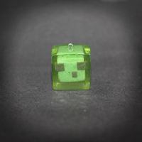Minecraft - Slime pendant by SuperSiriusXIII