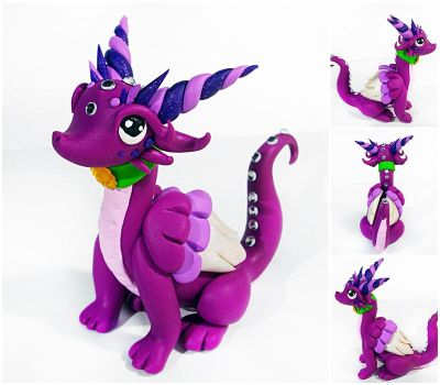 Purple dragon - FOR SALE by CuteDragonsAndMore