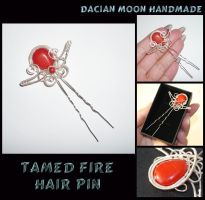 Tamed Fire hair pin by NessaSilverwolf