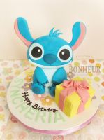 Stitch Birthday Cake by StrawberryStory