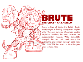 Brute - crazy armadillo by McKimson