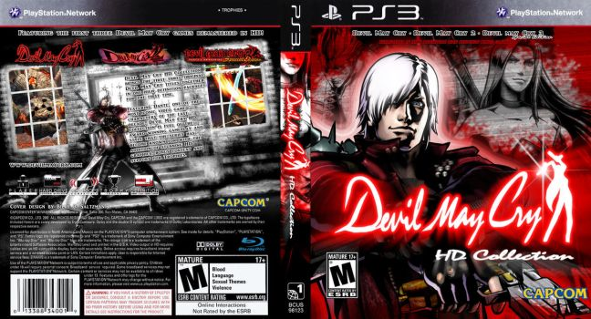 Custom Devil May Cry Collection Cover PS3 by Billysan291