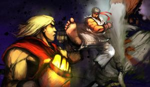 Street Fighter IV inside cover by Noe-Leyva