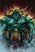 Hulk Wolverine Color by MARCIOABREU7