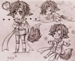 Sketchpage Commission #1: Kimyou by OtakuPup