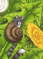 Snat or Cail? Sweet Snailcat by Ganjamira