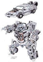 Timewarp- Delorean Autobot by darksilvania