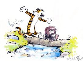 Calvin and Hobbes redux by NicoBlue