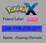 Pkmn X Friend Code by Championx91