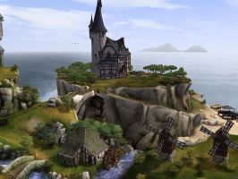 Sims Medieval Wizard Tower by Tora-Luv10