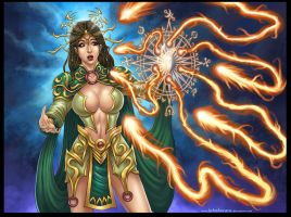 Commission: Casting Spell Misfires by johnbecaro