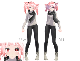 [MMD] Winter Teto by sailor-rice