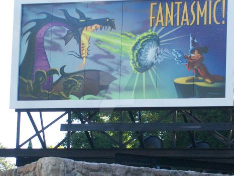 Fantasmic sign in MGM by electriclightparade