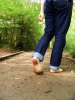 Barefoot forest walk 2 by PhilsPictures