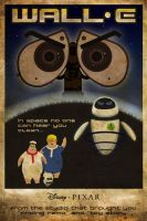 50's Style Wall-E Poster by omegaarchetype