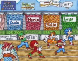 Mario and Sonic Olympic Games by DragonQuestHero