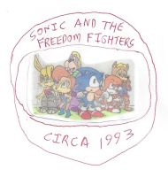 Sonic and the Freedom Fighters circa 1993 by dth1971