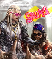 Swagging around by Lhax