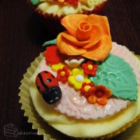 Cherry Ladybird Cupcakes by cakecrumbs