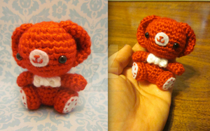 Valentines Day Wee Lil Teddy Bear Amigurumi by Spudsstitches