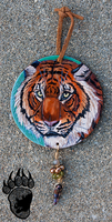 Tiger Tooled Leather Round by Illuminaiae