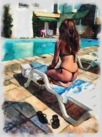 At the pool by paulnery