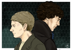 Sherlock and John 01 by aibunny