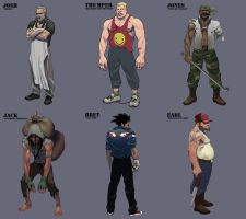After Hours Characters by ArtofTu