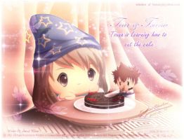Tsuna is Learning how to cut the Cake with Tear by Kauthar-Sharbini