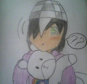 Kayden with his new teddy + color by AngelSaviorBVB