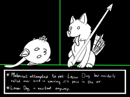 Meloncat and the Lesser Dog by FroslassManiac