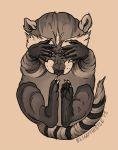 Raccoon Flash by blindthistle