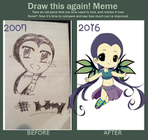 DRAW THIS AGAIN: Hay Lin from W.I.T.C.H by cutesu