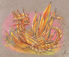 Fire crystal dragon by AlviaAlcedo
