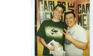 Me and Carlos Mencia by Pronon1990