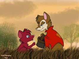 Nelwin meets Mrs. Brisby by Bunclebung