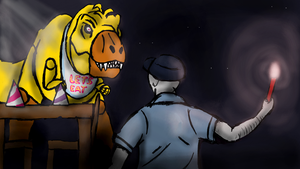 Where's my pizza Mike? (JP/FnaF) by Alien-Psychopath