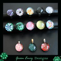 Bauble rings and pendants by green-envy-designs