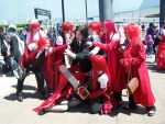 sebastian trying to escape grell clones. by shadowclothes