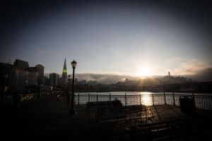 Foggy Sunset by kriegs