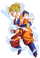 Goku super saiyan 2 by BardockSonic