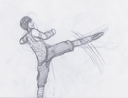Rock Lee - Kung Fu Fighting by Creativegreenbeans