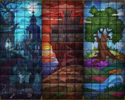 Stained Glass for Evilibrium by Anhel1310